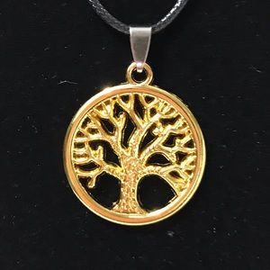 "Tree of Life Pendant Leather cord 18"" 🦋🎁💗🌺💕"